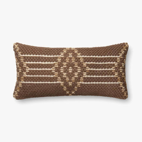 Brown & Multi-Colored Pillow by ED Ellen DeGeneres Crafted by Loloi