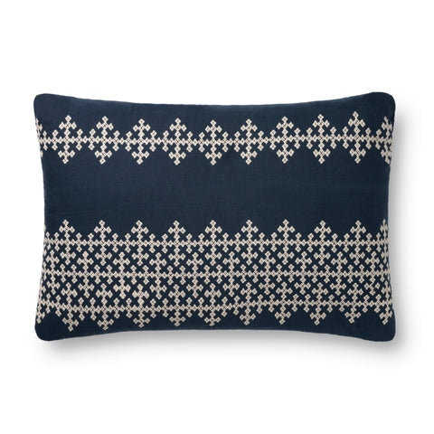 Navy & Ivory Pillow by Loloi
