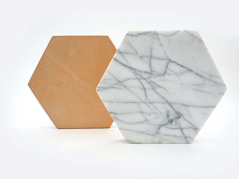White Marble Trivet in Various Shapes design by Fort Standard