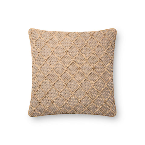 Natural & Gold Pillow by Loloi