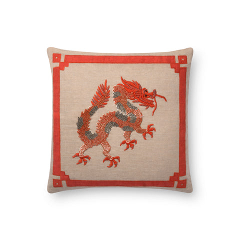 Natural & Rust Pillow by Loloi