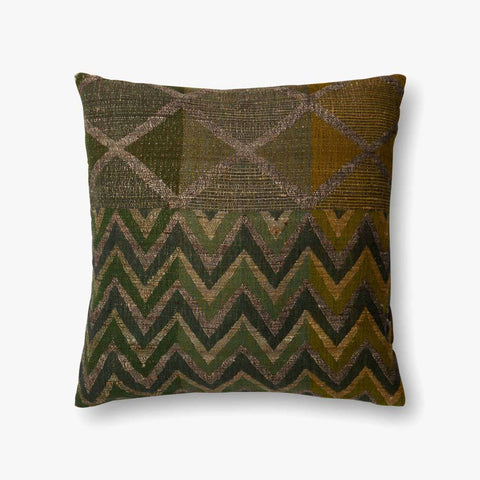 Green & Multi-Colored Pillow by ED Ellen DeGeneres Crafted by Loloi