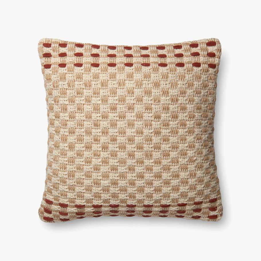 Rust & Multi-Colored Pillow by ED Ellen DeGeneres Crafted by Loloi