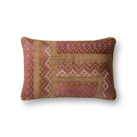 Pink & Rust Appliqued Pillow by Loloi