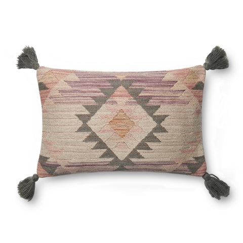 Pink & Multi Pillow by Justina Blakeney × Loloi