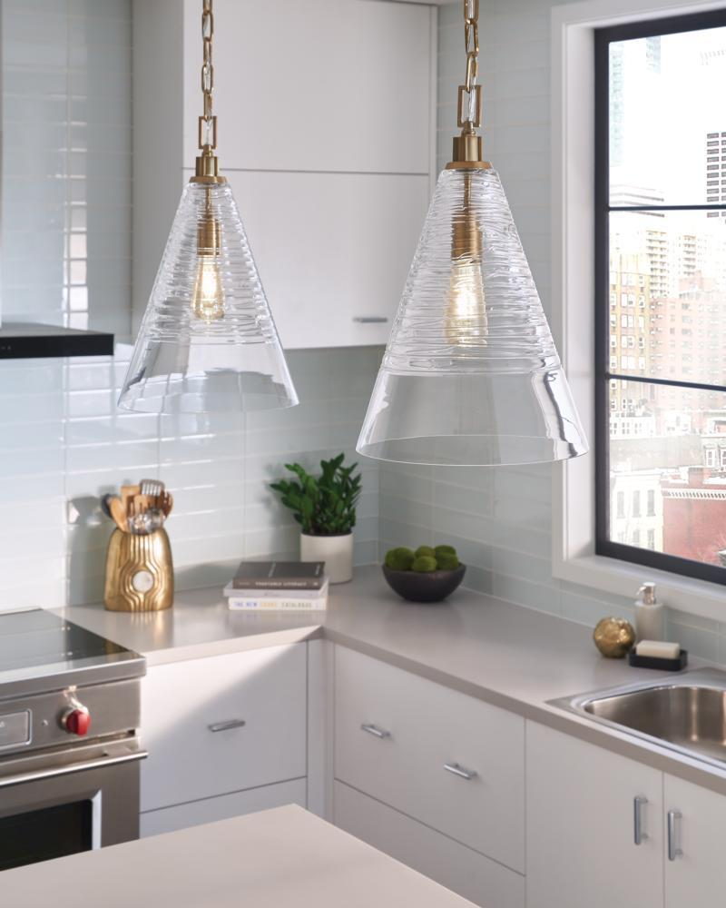 Elmore Cone Pendant by Feiss