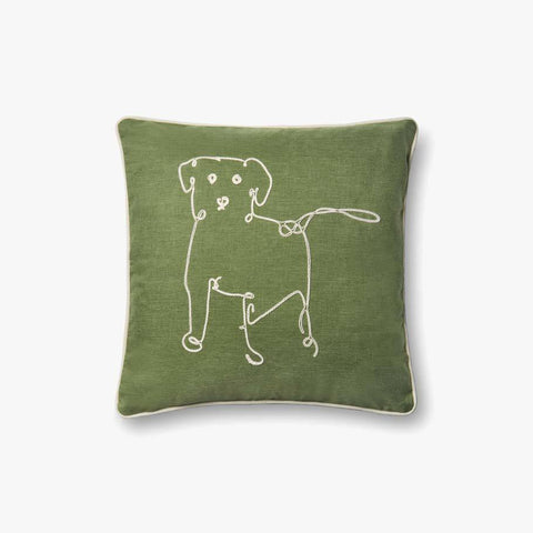 Green Pillow by ED Ellen DeGeneres Crafted by Loloi