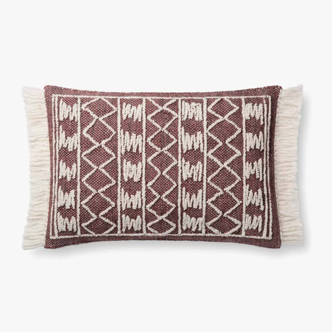 Burgundy Pillow by ED Ellen DeGeneres Crafted by Loloi