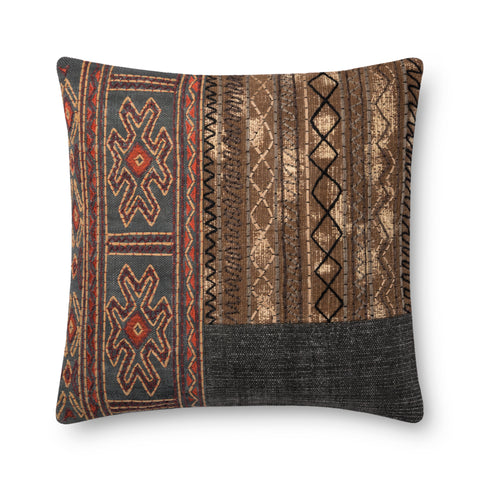 Grey & Brown Pillow by Loloi