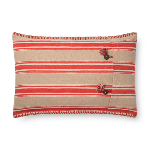 Red & Natural Pillow by Loloi