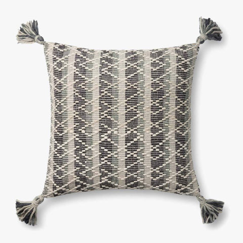 Grey & Multi-Colored Pillow by ED Ellen DeGeneres Crafted by Loloi