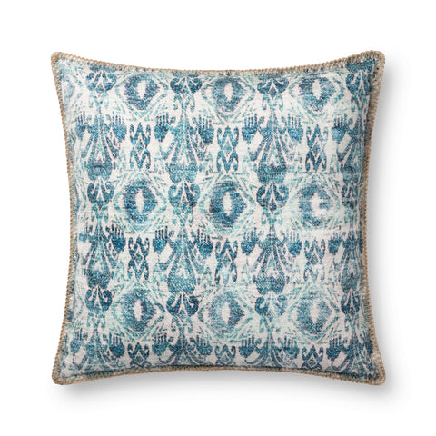 Blue Indoor/Outdoor Pillow by Loloi