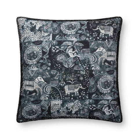 Charcoal Pillow by Justina Blakeney × Loloi