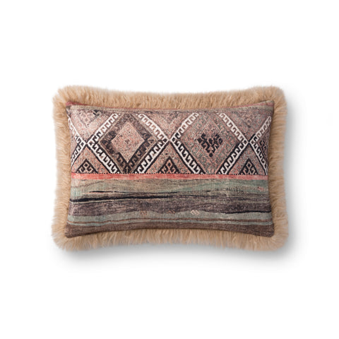 Multi & Beige Pillow by Loloi