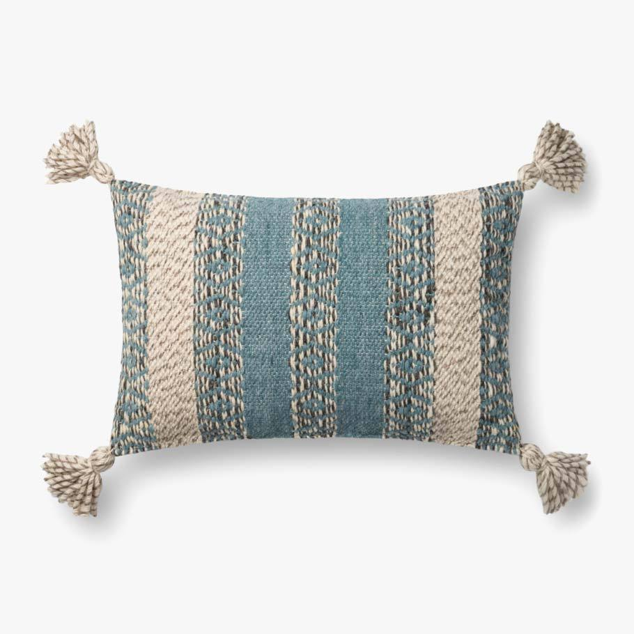 Blue & Multi-Colored Pillow by ED Ellen DeGeneres Crafted by Loloi