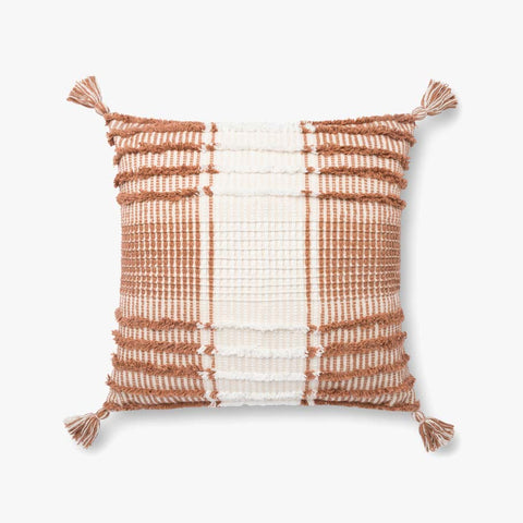 Terracotta & White Pillow by ED Ellen DeGeneres Crafted by Loloi