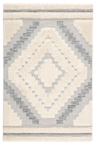 Sani Indoor/ Outdoor Geometric Gray & Cream Area Rug