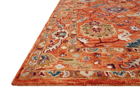 Padma Rug in Orange / Multi by Loloi