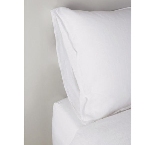 Parker Cotton Percale Duvet Set in White design by Pom Pom at Home