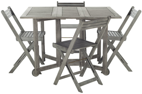 Arvin Table & 4 Chairs in Grey Wash design by Safavieh