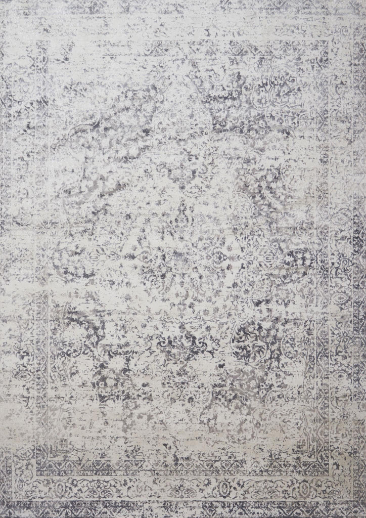 Patina Rug in Silver & Light Grey by Loloi