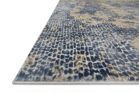 Patina Rug in Ocean & Gold by Loloi