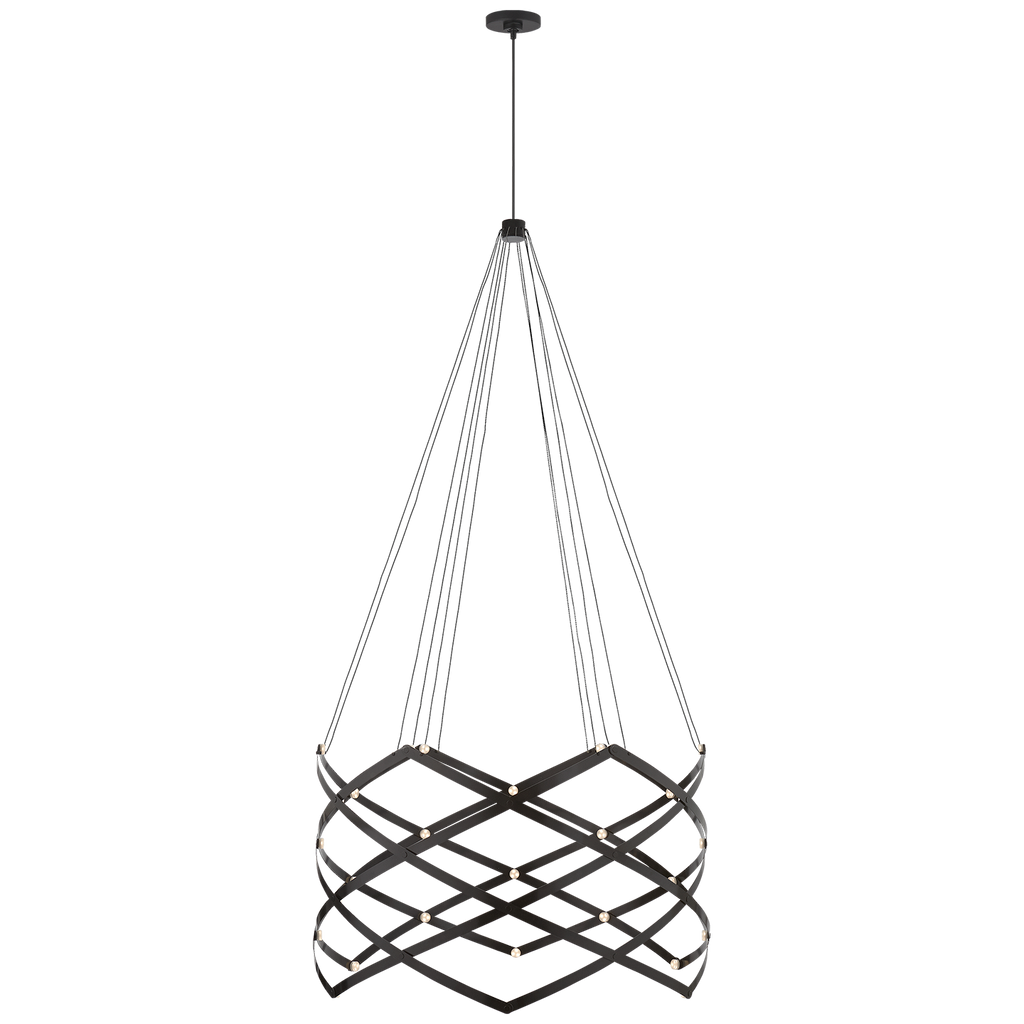 Interlace Expandable Chandelier by Peter Bristol