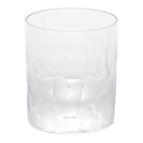 Set of 2 Pebbles Clear Double Old Fashioned Glasses design by Moser
