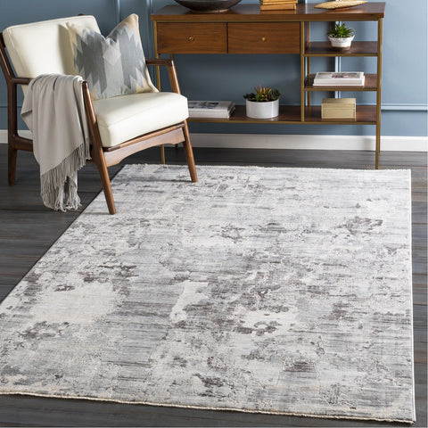 Presidential PDT-2314 Rug in Medium Grey & Ivory by Surya