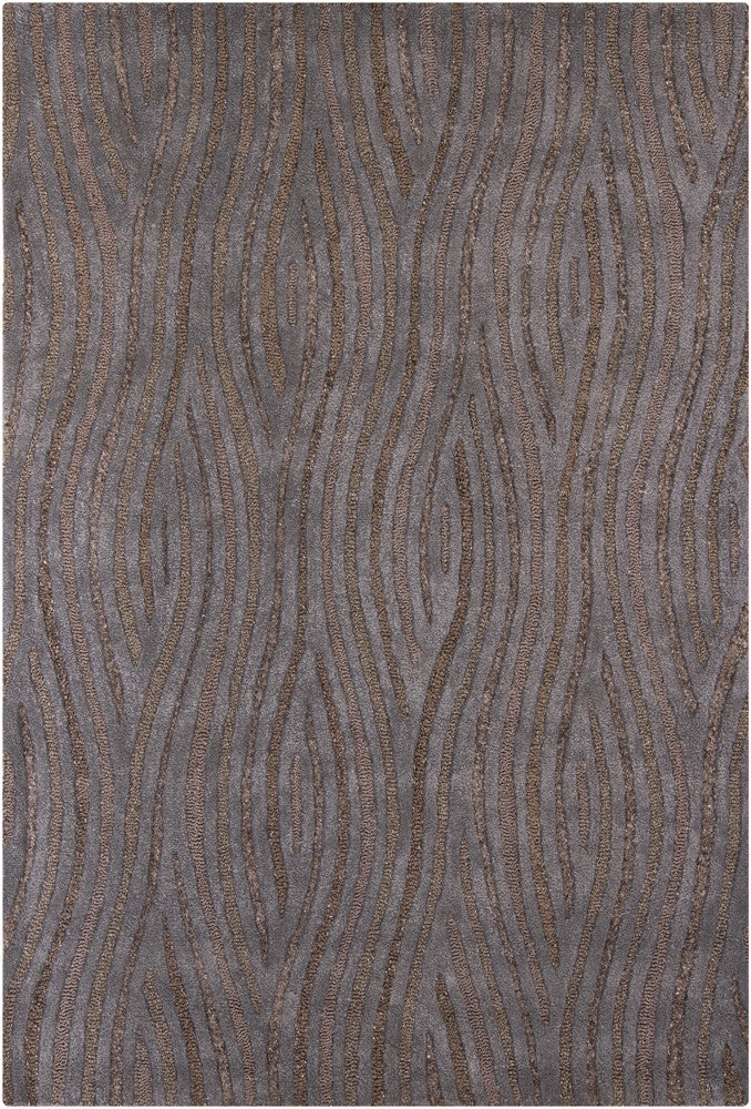 Penelope Collection Hand-Tufted Area Rug in Brown & Grey design by Chandra rugs