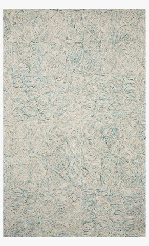Peregrine Rug in Aqua by Loloi