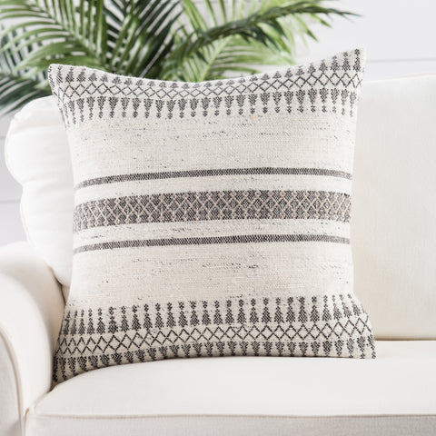 Prescott Pillow in Gardenia & Birch design by Jaipur Living