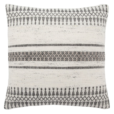 Prescott Gray & Ivory Geometric Throw Pillow