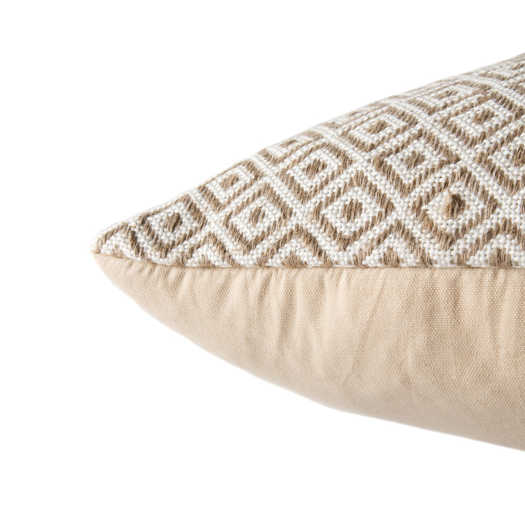 Estes Pillow in Gardenia & Warm Sand design by Jaipur Living
