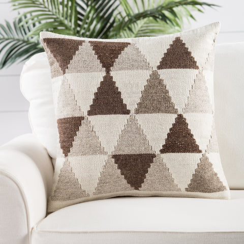 Terzan Pillow in Turtledove & Goat design by Jaipur Living