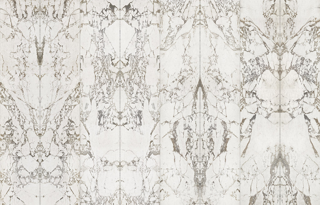 White Marble Wallpaper No Joints Mirrored design by Piet Hein Eek for NLXL Wallpaper