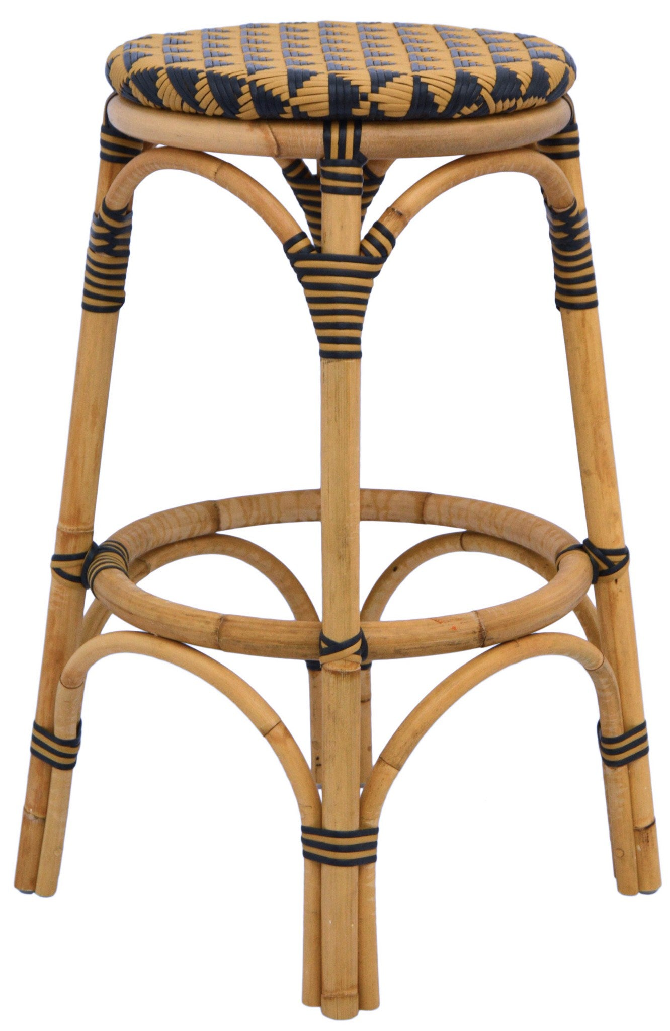 Pinnacles Bar Stool - Natural/Black by Selamat