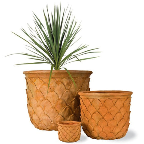 Pineapple Planters in Terrcotta design by Capital Garden Products