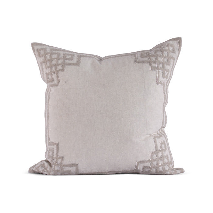 "Ming Lattice 24"" Pillow in Various Colors"