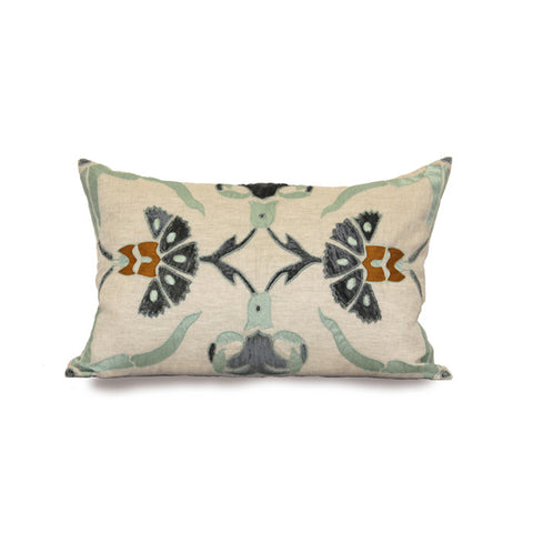 "Sultan Carn 16"" x 24"" Pillow in Natural and Blue design by Bliss Studio"