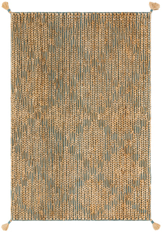 Playa Rug in Aqua / Natural by Justina Blakeney x Loloi