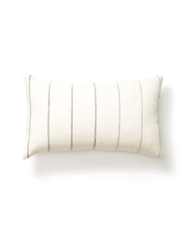 Recycled Stripe Lumbar Pillow in Grey design by Minna