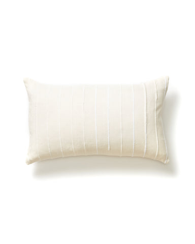 Recycled Stripe Lumbar Pillow in Cream design by Minna