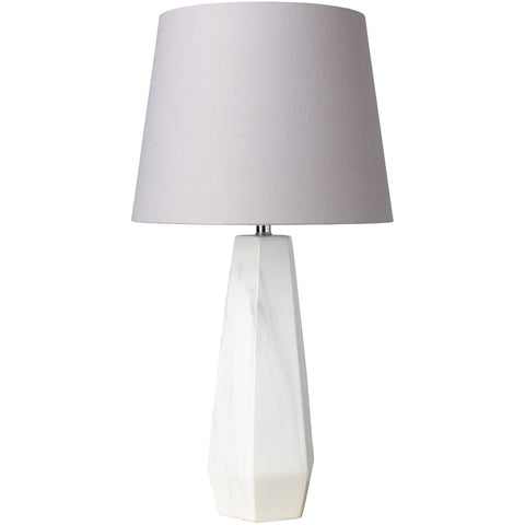 Palladian PLI-100 Table Lamp in Light Gray & White Marbled by Surya