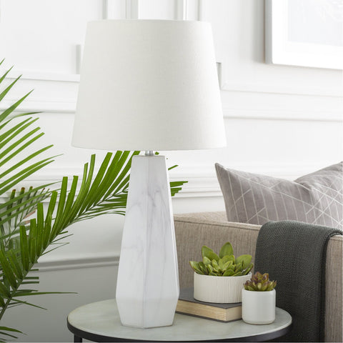 Palladian PLI-101 Table Lamp in White by Surya