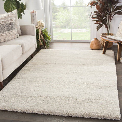 Serra Hand-Knotted Solid White Rug by Jaipur Living