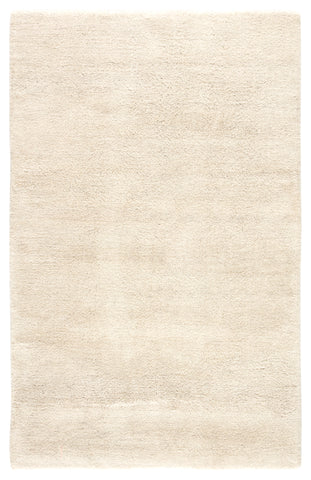 Serra Hand-Knotted Solid White Area Rug