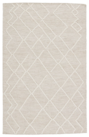 Moab Natural Geometric Light Grey & Ivory Rug by Jaipur Living