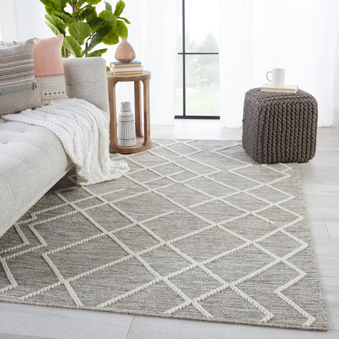 Moab Natural Geometric Grey & Ivory Rug by Jaipur Living