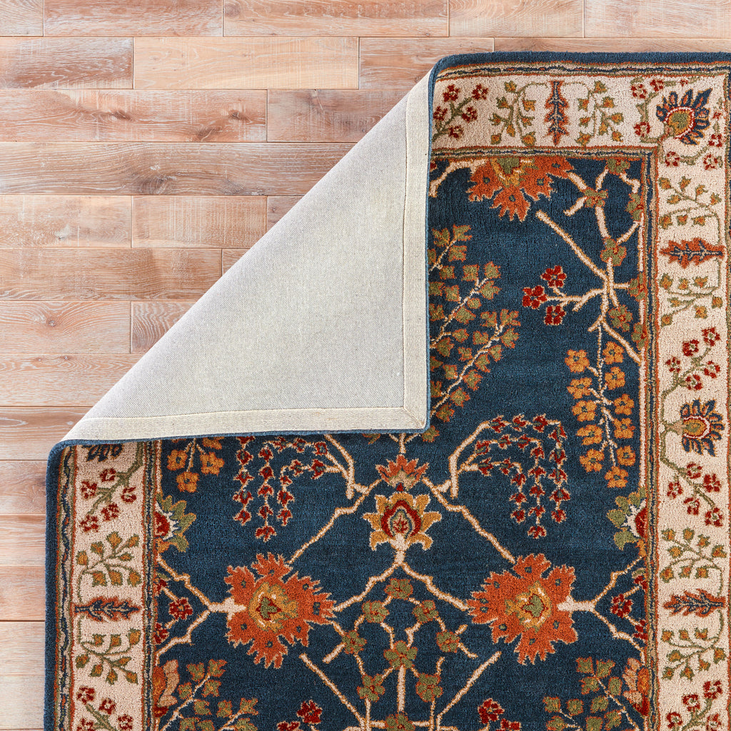 Chambery Handmade Floral Blue & Multicolor Area Rug